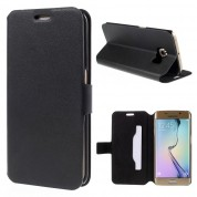 Doormoon Booklet Leather Flip Case Samsung Galaxy S6 Edge, Black