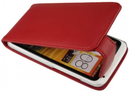 Doormoon Vertical Leather Flip Case HTC One X/X+, Red