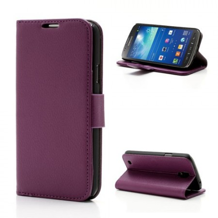 Booklet Flip PU Leather Case for Samsung Galaxy S4 Active (i9295), Purple