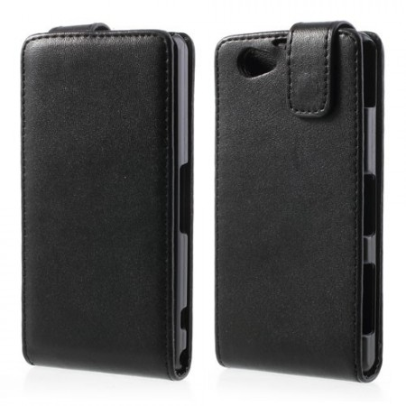 Vertical Flip PU Leather Case for Sony Xperia™ Z1 Compact, Black
