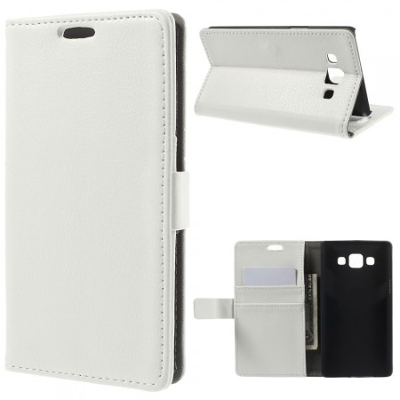 Wallet PU Leather Case for Samsung Galaxy A5, White