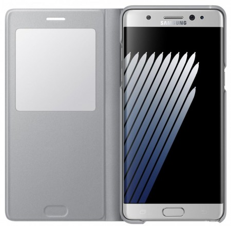 Original S View Cover for Samsung Galaxy Note 7, Silver
