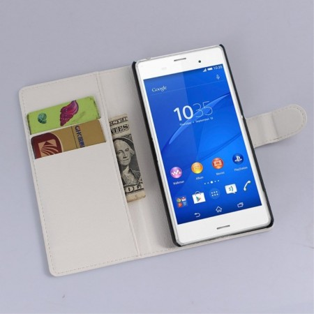 Booklet Flip PU Leather Case for Sony Xperia™ Z3+ (E6553), White
