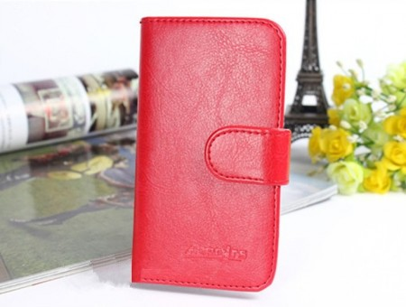 Acrolrs Booklet Leather Flip Case for Sony Xperia™ Z5, Red