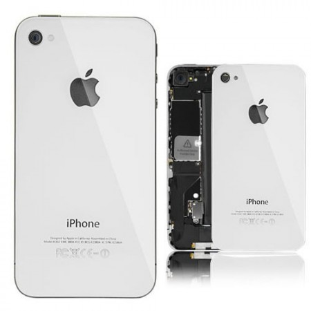 Original Glass Back Cover for Apple iPhone 4, White