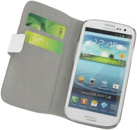 Doormoon Booklet Leather Flip Case Samsung Galaxy S III, White