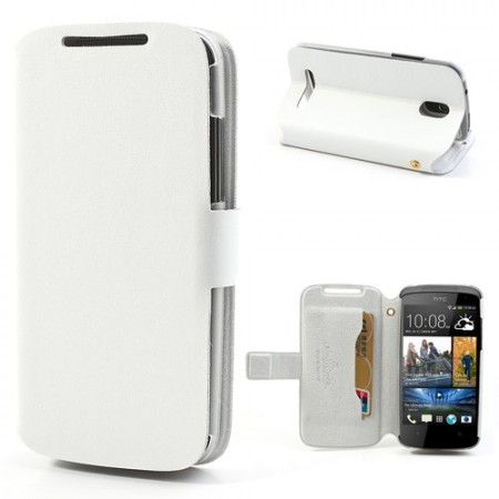 Doormoon Booklet Leather Flip Case HTC Desire 500, White