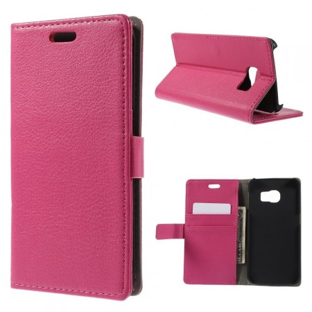 Wallet PU Leather Case for Samsung Galaxy S6 Edge, Rose