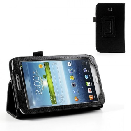 "Booklet PU Leather Case Samsung Galaxy Tab3-7.0"", Black"