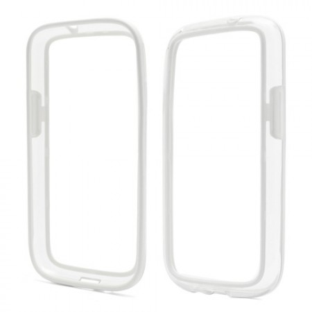 Bumper TPU Case for Samsung Galaxy S4/S4+, White/Clear