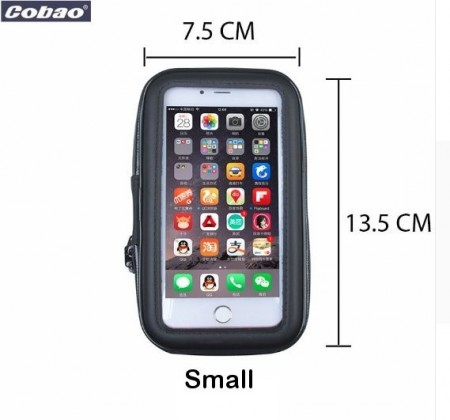 Cobao® bicycle/motorcycle phone holder w/waterproof zipper bag, SMALL