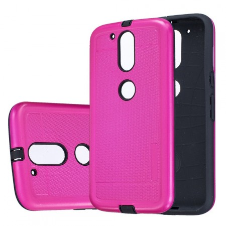 Dot Texture PC/TPU Hybrid Cover for Lenovo Moto G4/G4 Plus, Rose