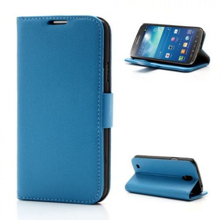 Booklet Flip PU Leather Case for Samsung Galaxy S4 Active (i9295), Blue
