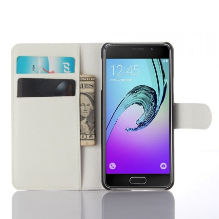 Wallet PU Leather Case for Samsung Galaxy A3 (2016), White