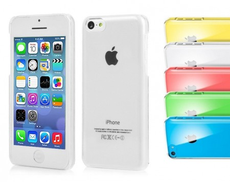 Hard Back Case for Apple iPhone 5c, *Crystal Clear*, Clear