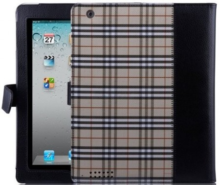 Booklet PU case for Apple iPad 2/3,*Scottish Plaid*