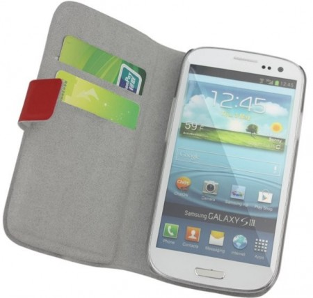 Doormoon Booklet Leather Flip Case Samsung Galaxy S III, Red