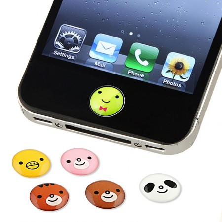 Button sticker *Touch Me!* for Apple iPad,iPhone,iPod