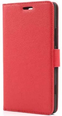 Booklet Flip PU Leather Case for Nokia Lumia 1520, Red