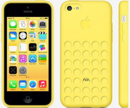 TPU gel case for Apple iPhone 5c, *Dot*, Yellow