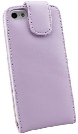 Doormoon Vertical Leather Flip Case for Apple iPhone 5/5S, Lavendel