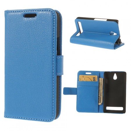 Wallet PU Leather Case for Sony Xperia™ E1 (D2005), Blue