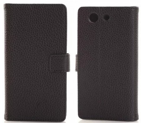Booklet Flip PU Leather Case for Sony Xperia™ Z3 Compact (D5803), Black