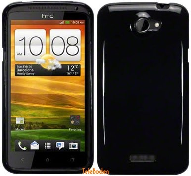 Flexi Shield Skin for HTC One X (+), *Solid Black*
