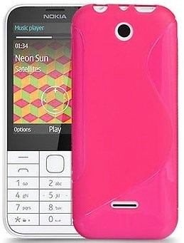 Flexi Shield Skin Nokia 225, *S-line*,Pink