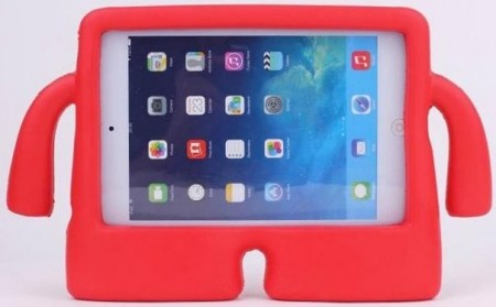 Anti Shock Protection Case, Apple iPad Mini 1/2/3/4, *iBuddy*, Red
