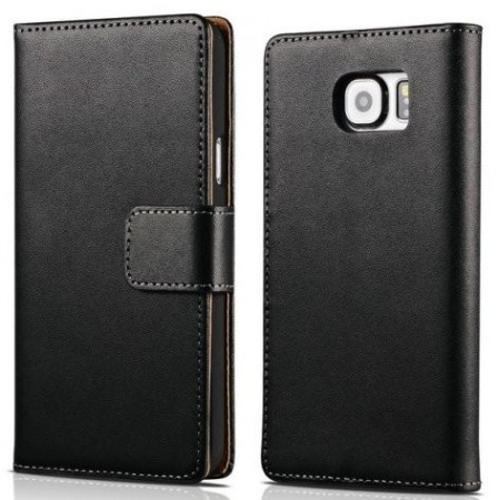 Wallet Leather Case for Samsung Galaxy Note 7, Black