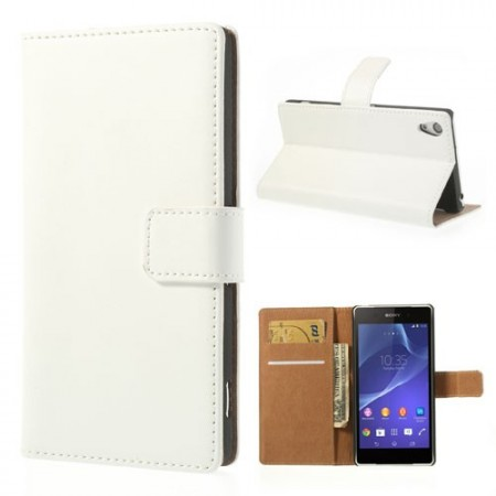 Genuine Wallet Leather Case for Sony Xperia™ Z2, White