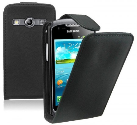 Flip PU Leather Case for Samsung Galaxy Xcover 2 (S7710), Black