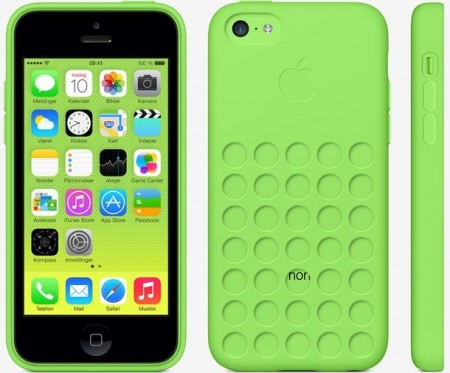 TPU gel case for Apple iPhone 5c, *Dot*, Green