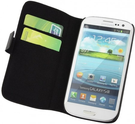 Doormoon Booklet Leather Flip Case Samsung Galaxy S III, Black