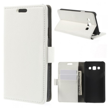 Wallet PU Leather Case for Samsung Galaxy A3, White