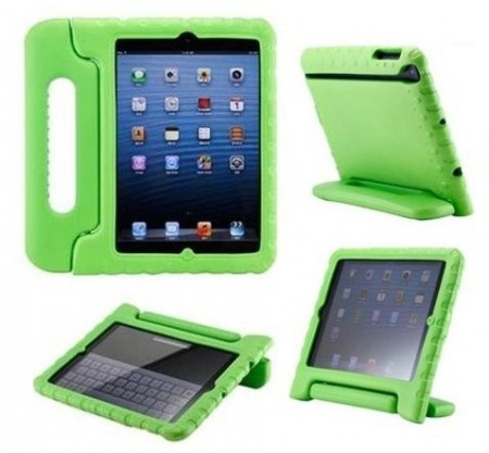 Anti Shock Protection Case for Apple iPad Mini, ¨Carry¨, Green