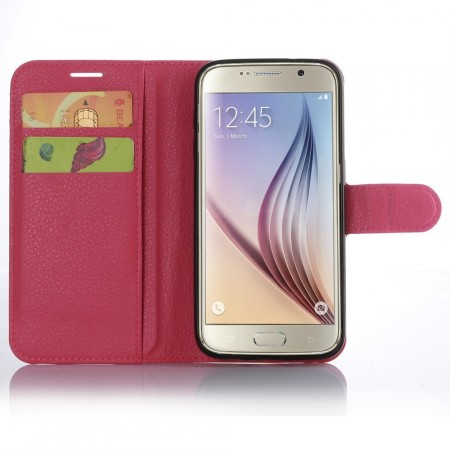 Wallet PU Leather Case for Samsung Galaxy S7, Rose
