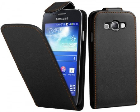 Flip PU Leather Case for Samsung Galaxy Ace 3, Black