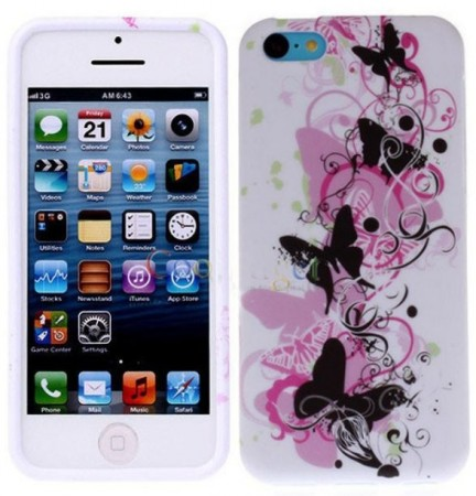 Flexi Shield Skin for Apple iPhone SE/5/5s,*Decor Design*, Butterfly