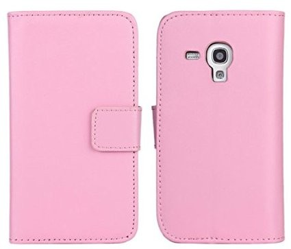 Wallet PU Leather Case for Samsung Galaxy Trend Pluss (S7580), Pink