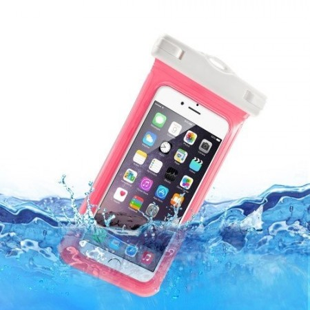V1 Waterproof Bag with neckstrap for 4.7-inch, (15cm. x 7,5cm.), Pink