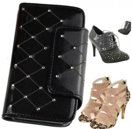 Booklet PU case for Apple iPhone 4/4S,*Diamond*