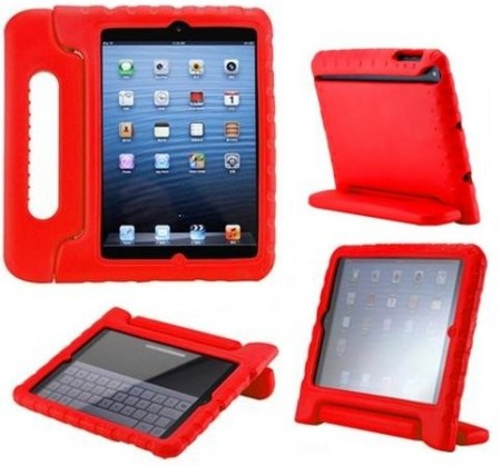 Anti Shock Protection Case for Apple iPad Mini, ¨Carry¨, Red
