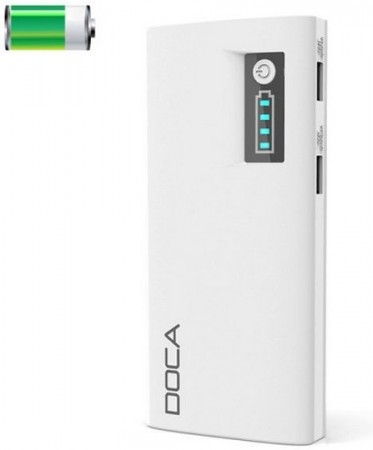 Power Bank DOCA D566, 13000mAh Li~Ion, White