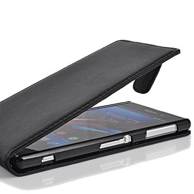 Flip PU Leather Case for Sony Xperia Z1 (C6903), Black