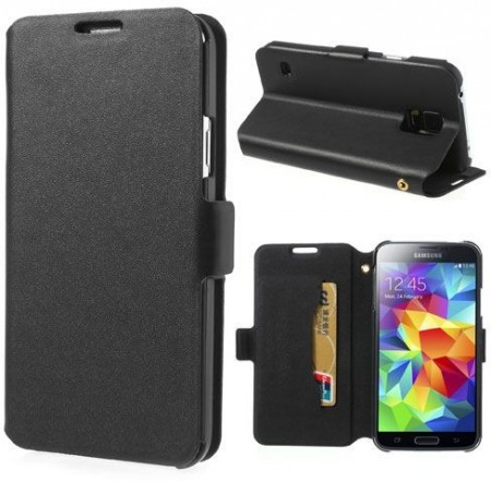Doormoon Booklet Leather Flip Case Samsung Galaxy S5, Black