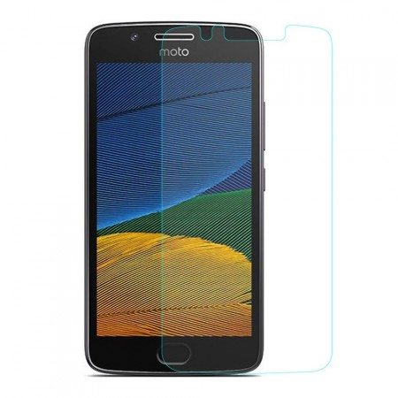 Tempered Glass Screen Protector Film for Motorola Moto G5, Clear