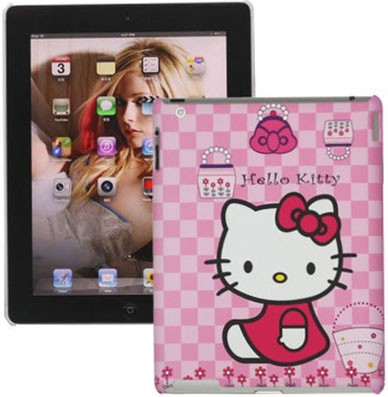 Hard Back Case for Apple iPad 3, *Hello Kitty*,Pink