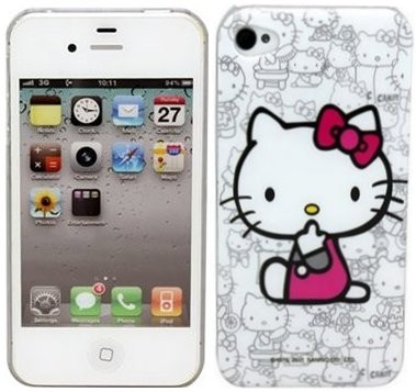 Hard Back Case for Apple iPhone 4/4S, *Hello Kitty W*